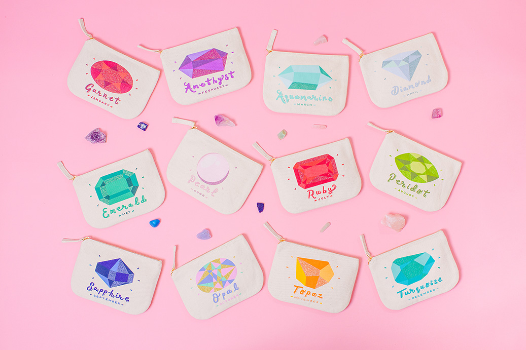 Alphabet Bags Birthstone campaign shot by Marianne Taylor.