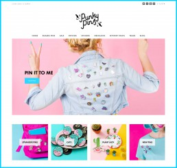 Colourful product photography by Marianne Taylor for Punky Pins.