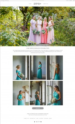 Product photography for Lavalia multiway dresses by Marianne Taylor.
