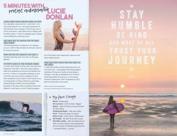 Surfgirl magazine lifestyle photography by Marianne Taylor.
