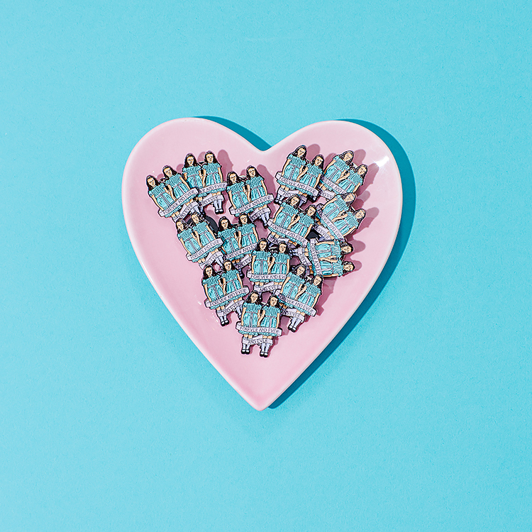 Colourful product photography for Punky Pins by Marianne Taylor.