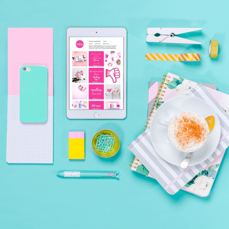 Colourful product photography styling and content creation by Marianne Taylor.