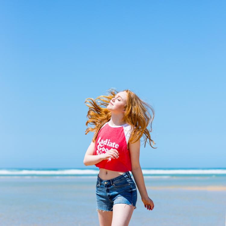 Colourful beach lifestyle photoin Cornwall by Marianne Taylor.