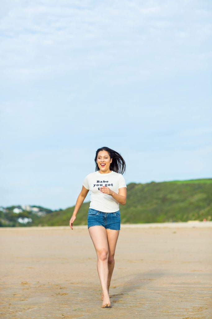 Beach lifestyle photography in Cornwall by Marianne Taylor.