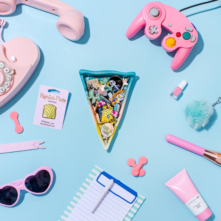 80's flashback! Colourful product photography and styling by Marianne Taylor.