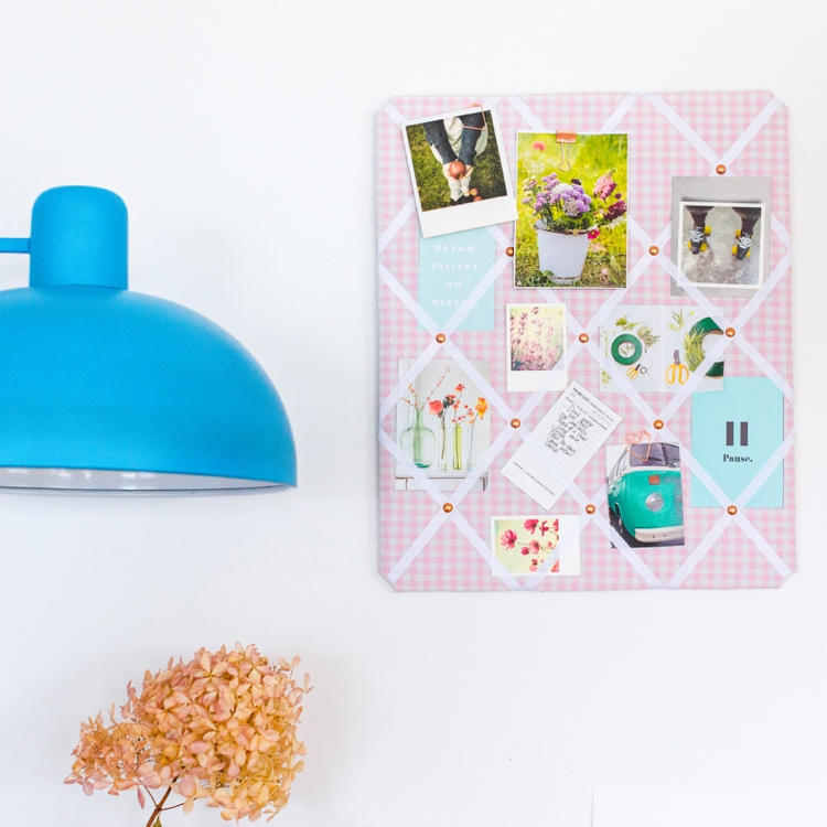 Colourful product photography and styling of memo boards by Marianne Taylor.