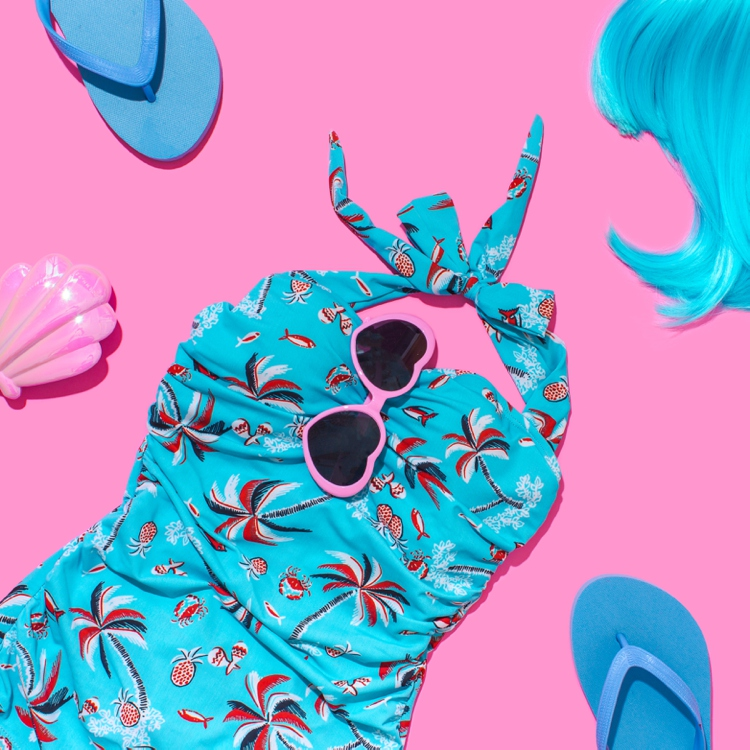 Colourful content creation for For Luna Swimwear. Product photography & styling by Marianne Taylor.