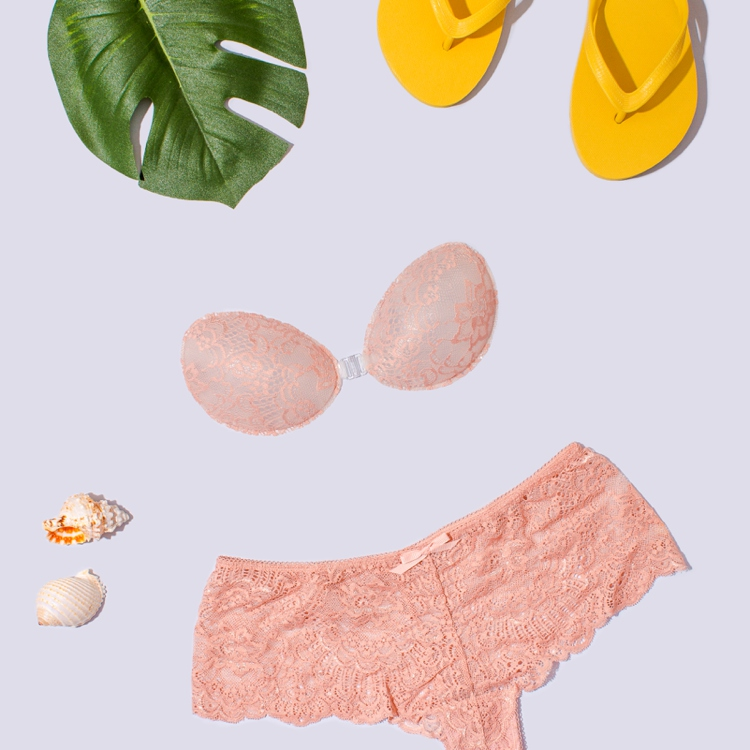 Colourful content creation for InvisiBra. Product photography & styling by Marianne Taylor.