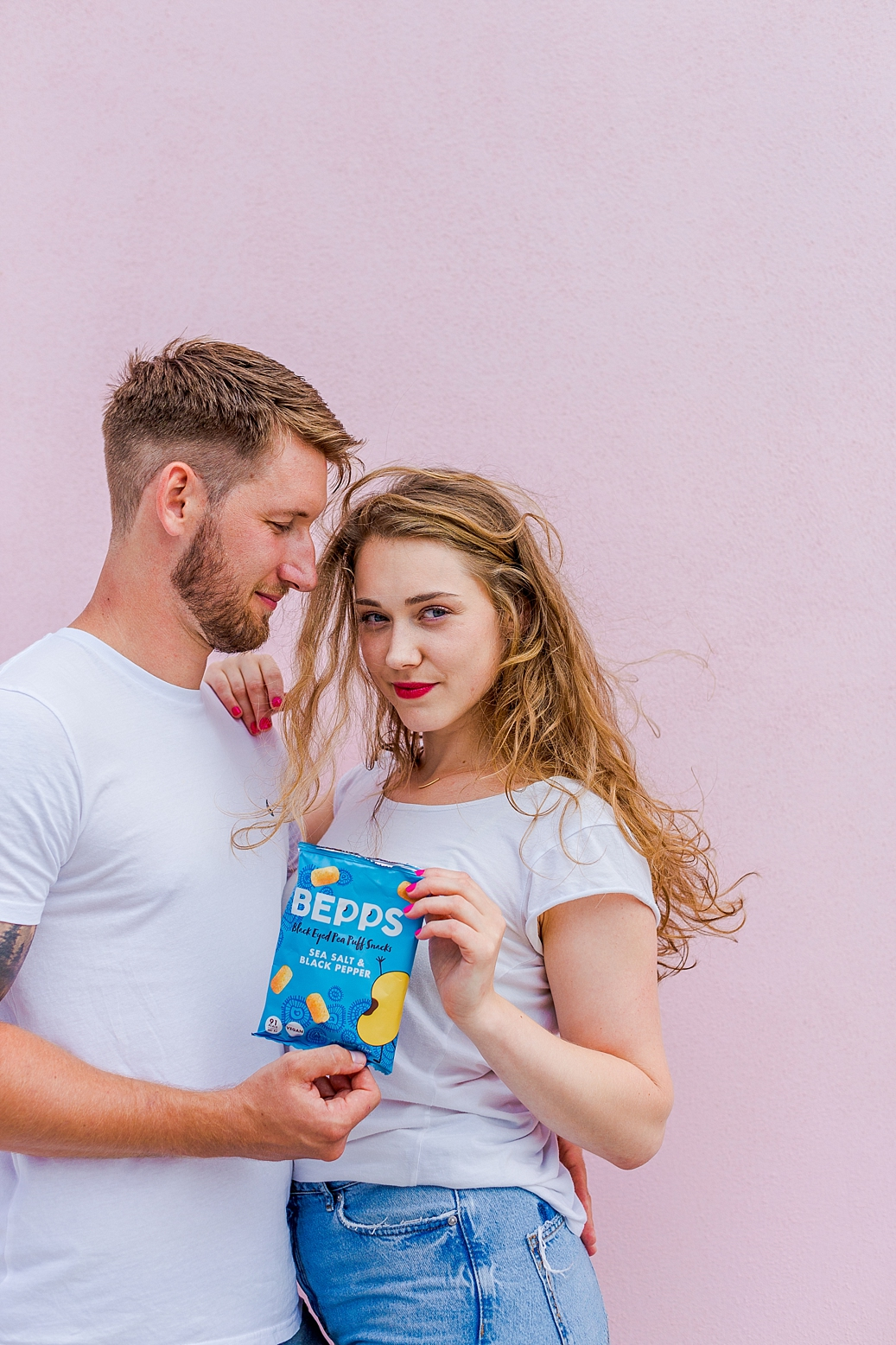Colourful content creation for Bepps vegan snacks. Product photography & styling by Marianne Taylor.