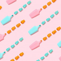 Colourful content creation for SugarBearHair. Styled stills product photography by Marianne Taylor.