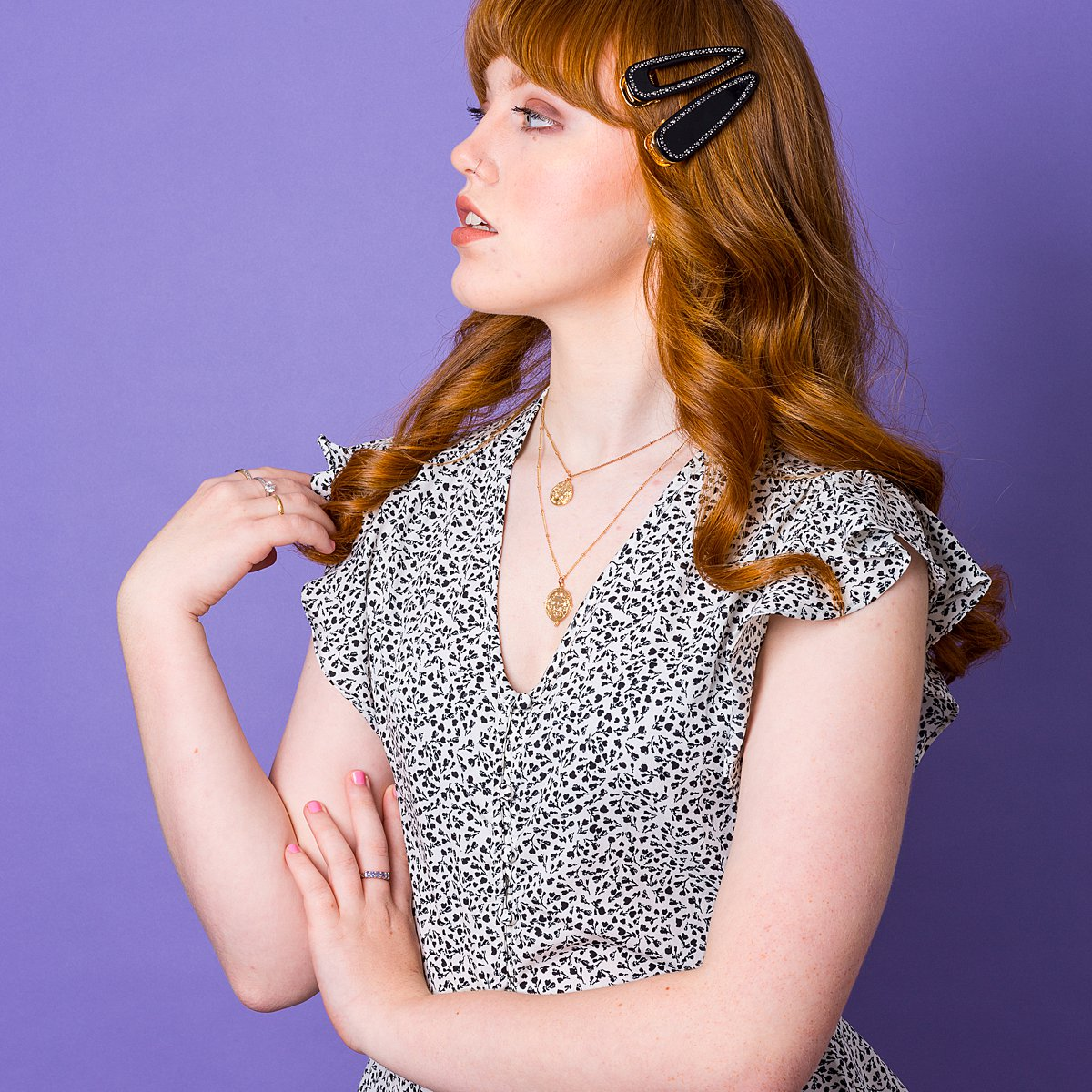 Colourful content creation for Crown & Glory hair accessories. AW19 product photography by Marianne Taylor.