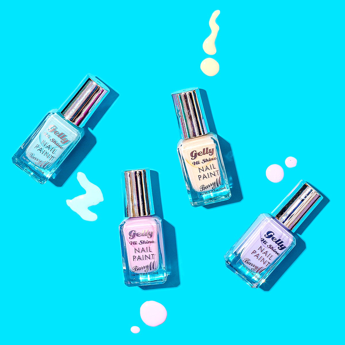 Colourful content creation for Barry M cosmetics. Styled product and beauty stills photography by Marianne Taylor.