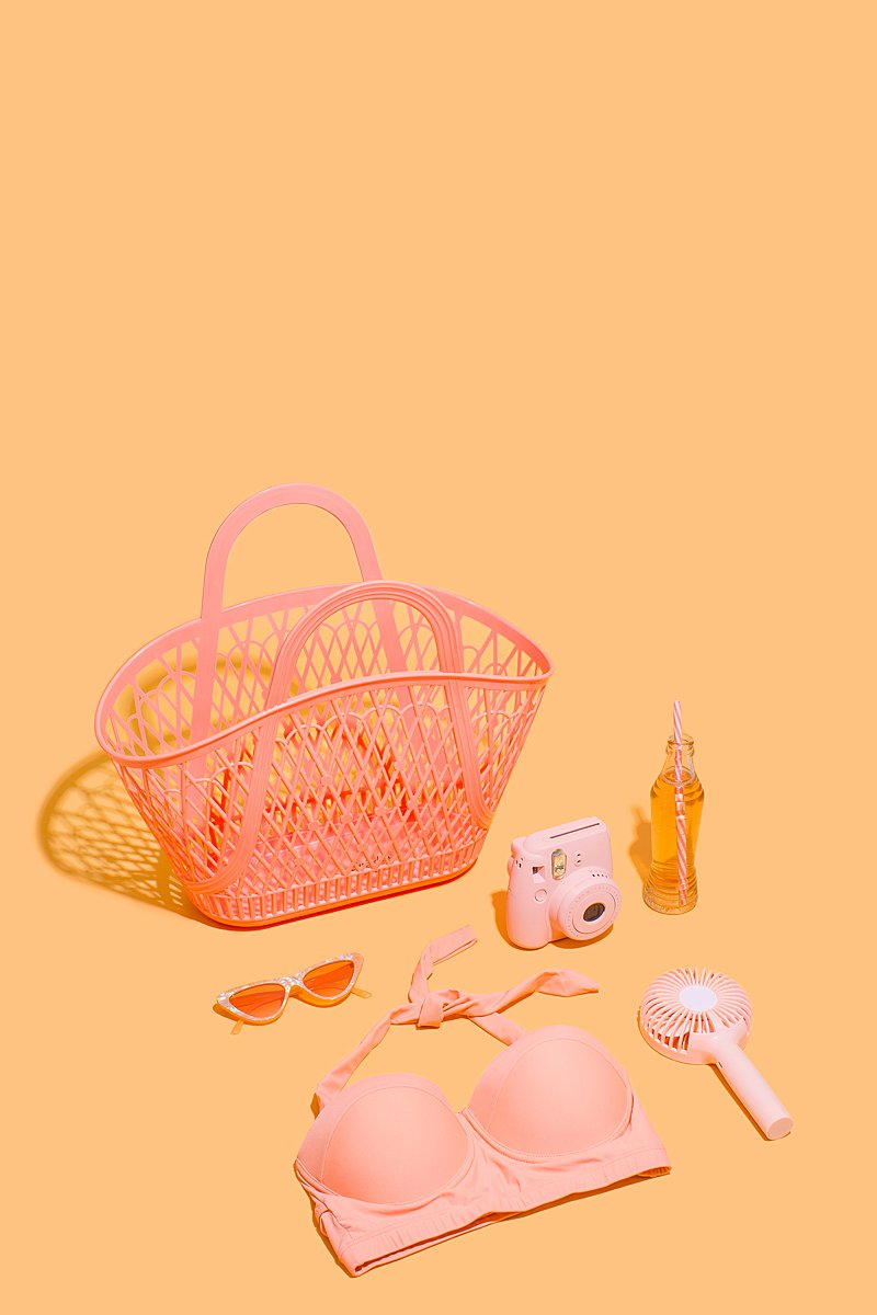 Colourful stills photography for Sunjellies. Styled product photography by Marianne Taylor.