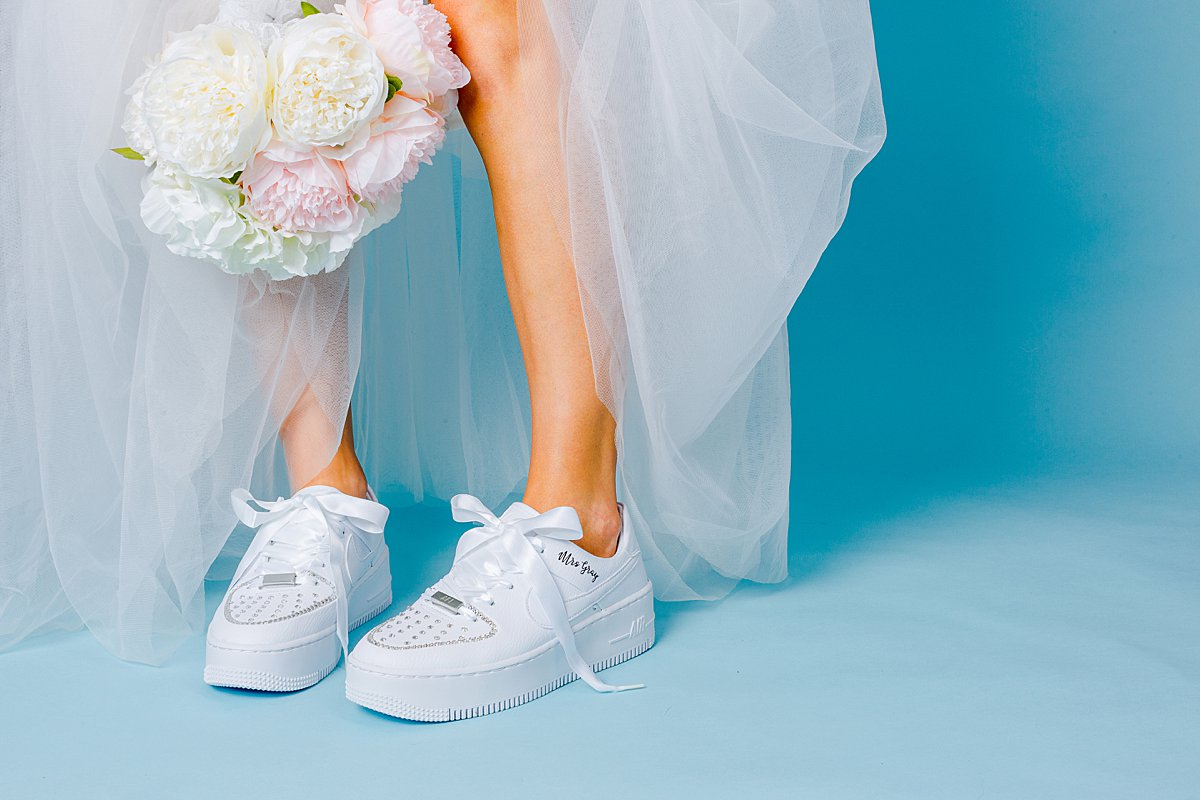 Product lifestyle photography & content creation for Wedding Converse. Product photography & styling by Marianne Taylor.